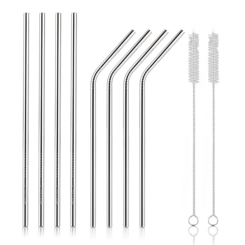 Store COZZINE Stainless Steel Drinking Straw Set of 8