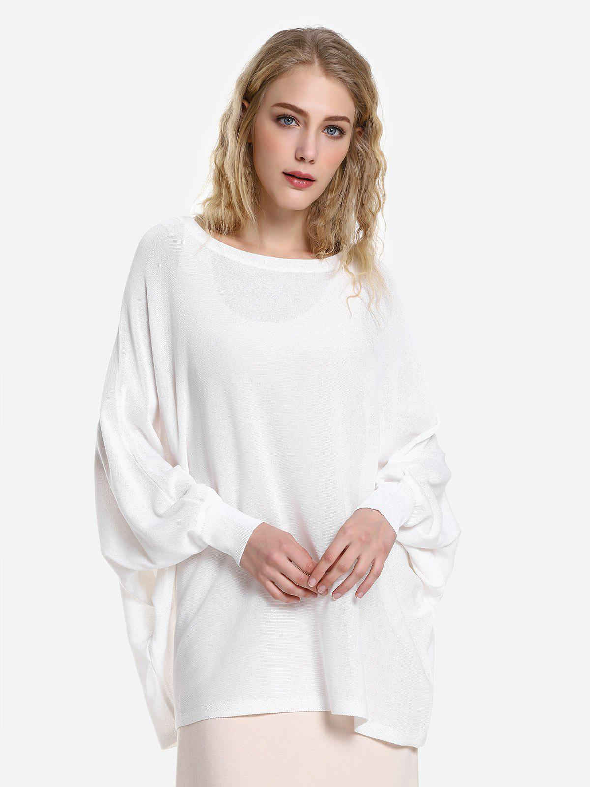 Affordable ZAN.STYLE Long Sleeve Round Neck Top