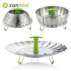 zanmini ZS3 11inch Stainless Steel Collapsible Food Steamer Basket -