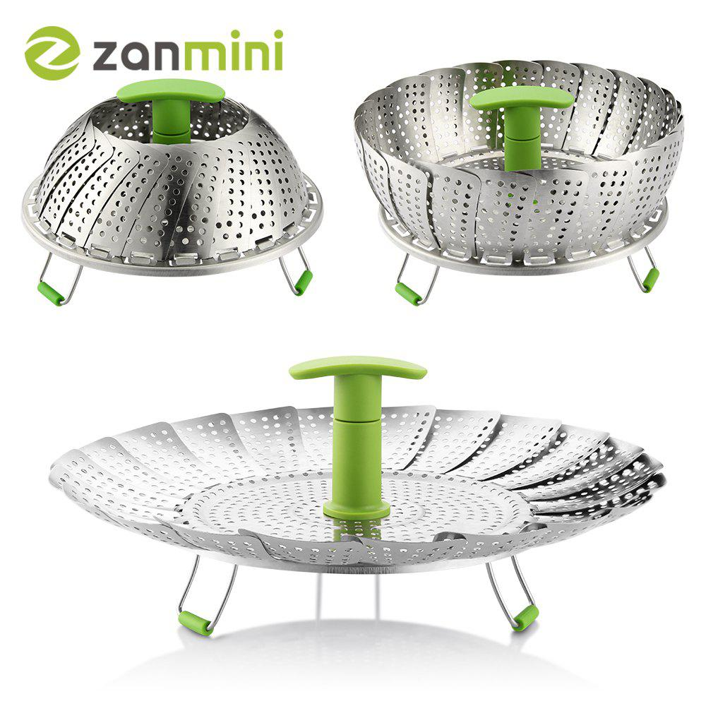 Cheap zanmini ZS3 11inch Stainless Steel Collapsible Food Steamer Basket