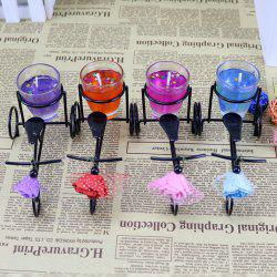Wrought Iron Bicycle Candle Set Decoration Creative Bicycle Jelly Candle Birthday Wedding Fragrance Decoration Gift -