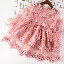 5350 Lace Trumpet Sleeve Embroidered Princess Dress -