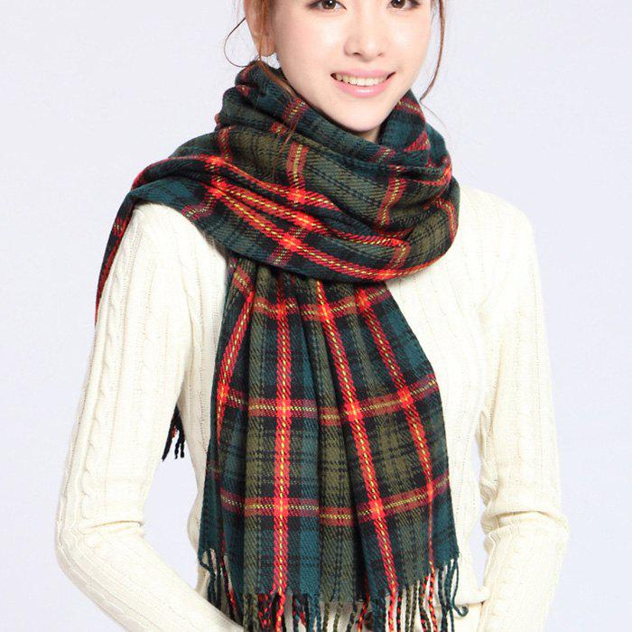 Unique New Autumn And Winter Bib Men's Korean Version Of Cashmere Plaid Scarf Ladies Solid Color Shawl Cloak