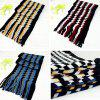 Knitted Striped Plaid Cashmere Scarf New Business Scarf Autumn And Winter Warm Scarf Men -