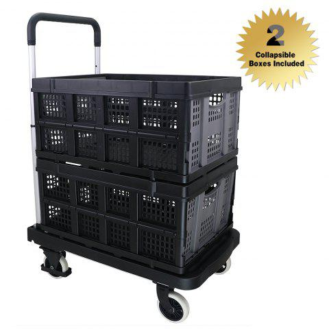 office trolley cart. Affordable Finether Multi-Purpose Height-Adjustable Aluminum Folding 4-Wheel Flatbed Trolley, Office Trolley Cart