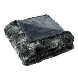 LANGRIA Faux Fur Fleece Blanket Throw, 60