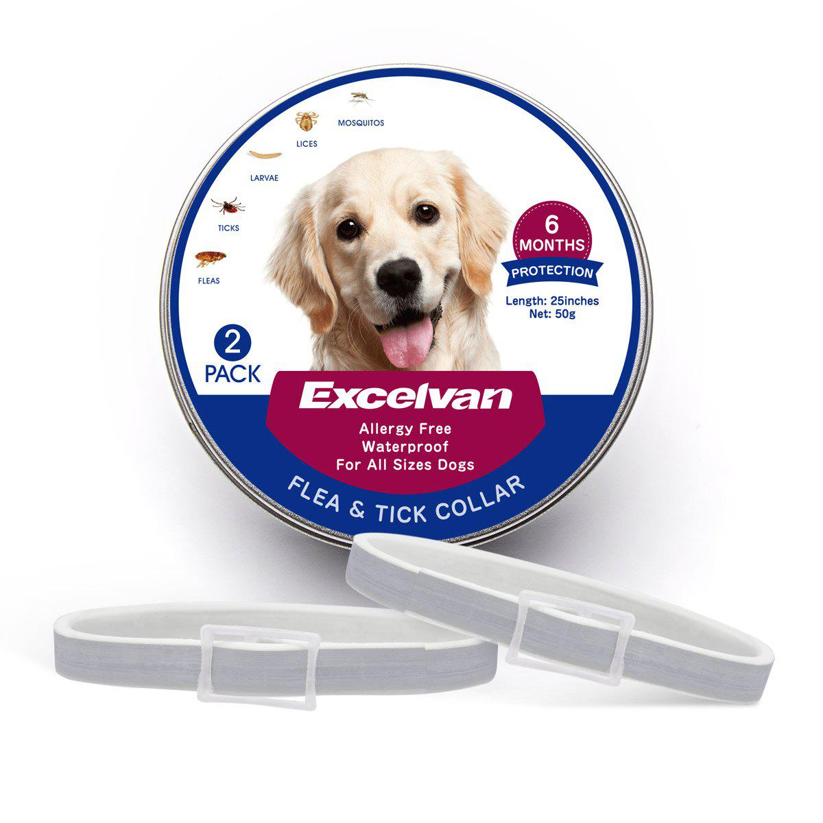 flea and tick collar for dogs-2 pack
