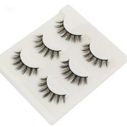 3Pair/Set 3D Mink False Eyelashes Handmade Black Thick Natural Long Fake Eye Lashes Extension Beauty Stage Smoked Make Up -