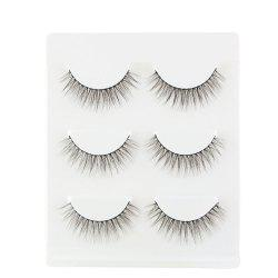 3Pair/Set 3D  False Eyelashes Handmade Black Thick Natural Long Fake Eye Lashes Extension Beauty Make Up Tool -