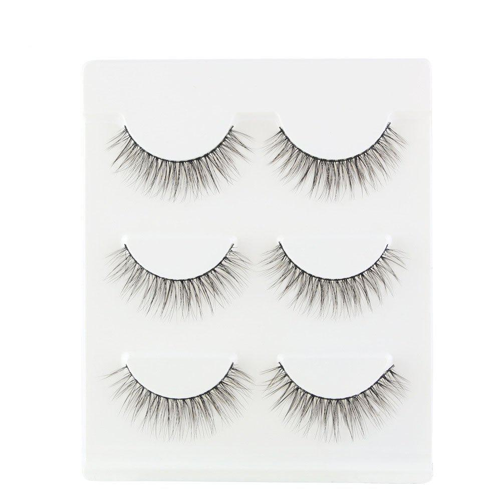 Fashion 3Pair/Set 3D  False Eyelashes Handmade Black Thick Natural Long Fake Eye Lashes Extension Beauty Make Up Tool