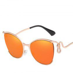 Women Oval Metal Sunglasses Women Fashion Glasses Brand Designer Retro Vintage Sunglasses -