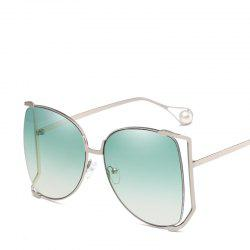 Women Oval Pearl Sunglasses Women Fashion Glasses Brand Designer Retro Vintage Sunglasses -