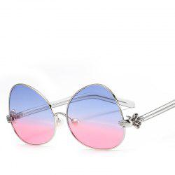 Oval Sunglasses Retro BlingBling Glasses Brand Designer Retro Vintage Sunglasses -