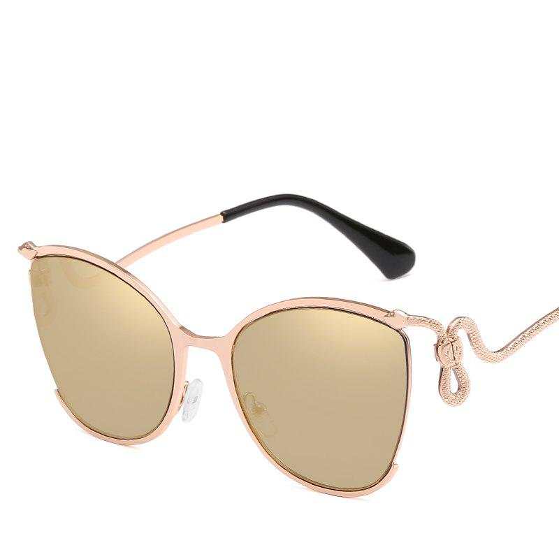 Cheap Women Oval Metal Sunglasses Women Fashion Glasses Brand Designer Retro Vintage Sunglasses