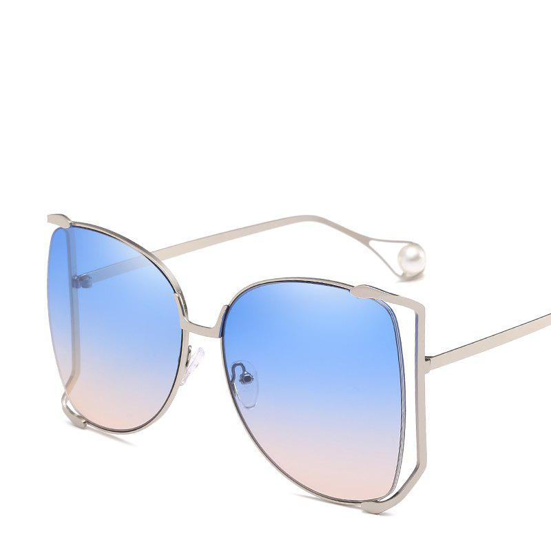 Latest Women Oval Pearl Sunglasses Women Fashion Glasses Brand Designer Retro Vintage Sunglasses