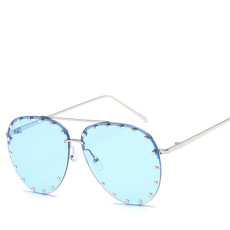 Sale Oval Rivet Sunglasses Women Fashion Glasses Brand Designer Retro Vintage Sunglasses