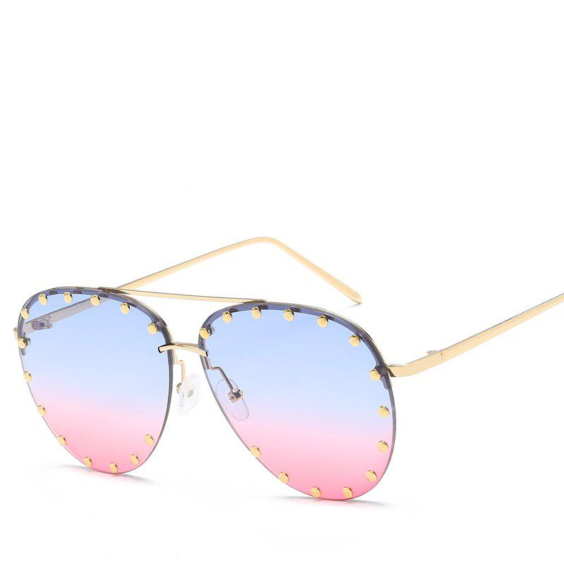 Fashion Oval Rivet Sunglasses Women Fashion Glasses Brand Designer Retro Vintage Sunglasses