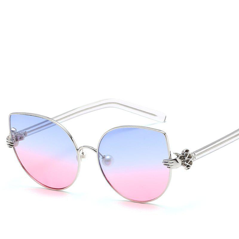 Latest Pearl Oval Sunglasses Retro BlingBling Glasses Brand Designer Retro Vintage Sunglasses