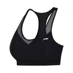 Li-Ning Performance Women Base Layer Walking Fitness Medium Support Tight Fit LiNing Sports Bra Tops AUBN036-1 -