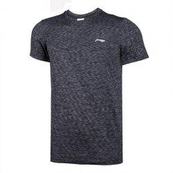 Li-Ning Men Running Series Sports T-Shirt Slim Fit Comfort Breathable Tee Tops ATSN073-3 -