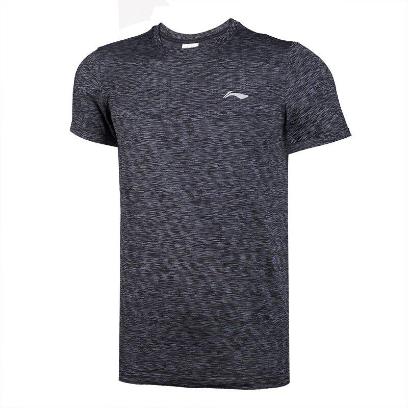 Chic Li-Ning Men Running Series Sports T-Shirt Slim Fit Comfort Breathable Tee Tops ATSN073-3