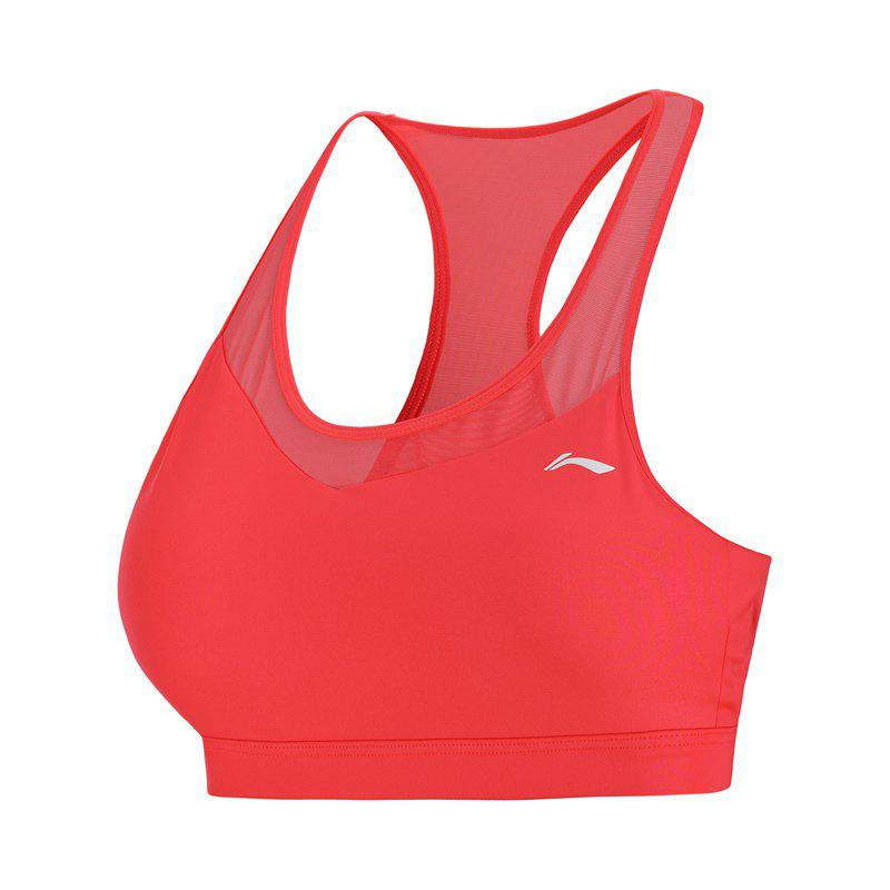 Latest Li-Ning Performance Women Base Layer Walking Fitness Medium Support Tight Fit LiNing Sports Bra Tops AUBN036-5