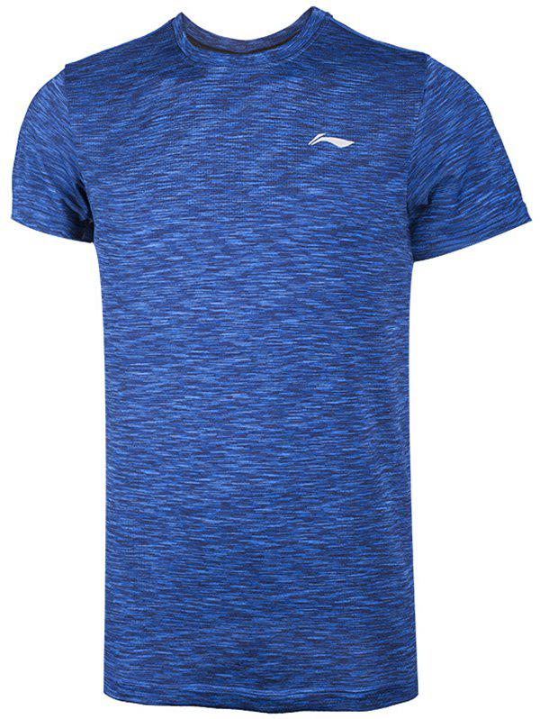 Online Li-Ning Men Running Series Sports T-Shirt Slim Fit Comfort Breathable Tee Tops ATSN073-1