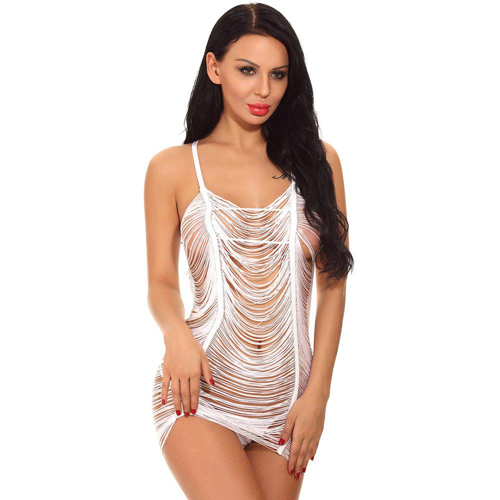 Latest Women Sexy See-Through Rringe Babydoll Lingeries Sleepdress