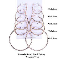 Fashion Women Hoop Earrings Set Party Jewerly Set Jewerly Gift Big Hoop Earrings 14k Gold  Earrings Women Girls Wedding Party Jewelery -