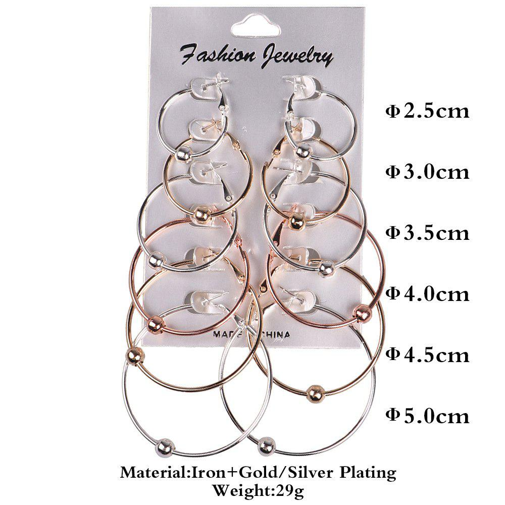 Fashion Women Hoop Earrings Set Party Jewerly Set Jewerly Gift Big Hoop Earrings 14k Gold  Earrings Women Girls Wedding