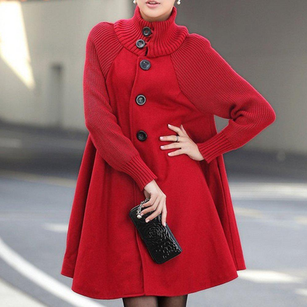Trendy New Winter Women's Fashion Casual Bat Coat Loose Cotton Plus Size Hoodies Jacket
