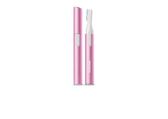 Portable Electric Lady Facial Trimmer Shaver Eyebrow Shaper Pen Hair Remover Removal Safety Beauty Knife (Pink)