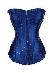 Women Wave point print Hallowmas Corset Skirt Bodyshaper Top -