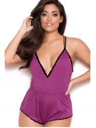 Women Deep V-neck Plus Size Babydoll Sleepwear -
