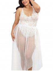Women Sexy Halter Two Piece Of Babydoll Lingeries -