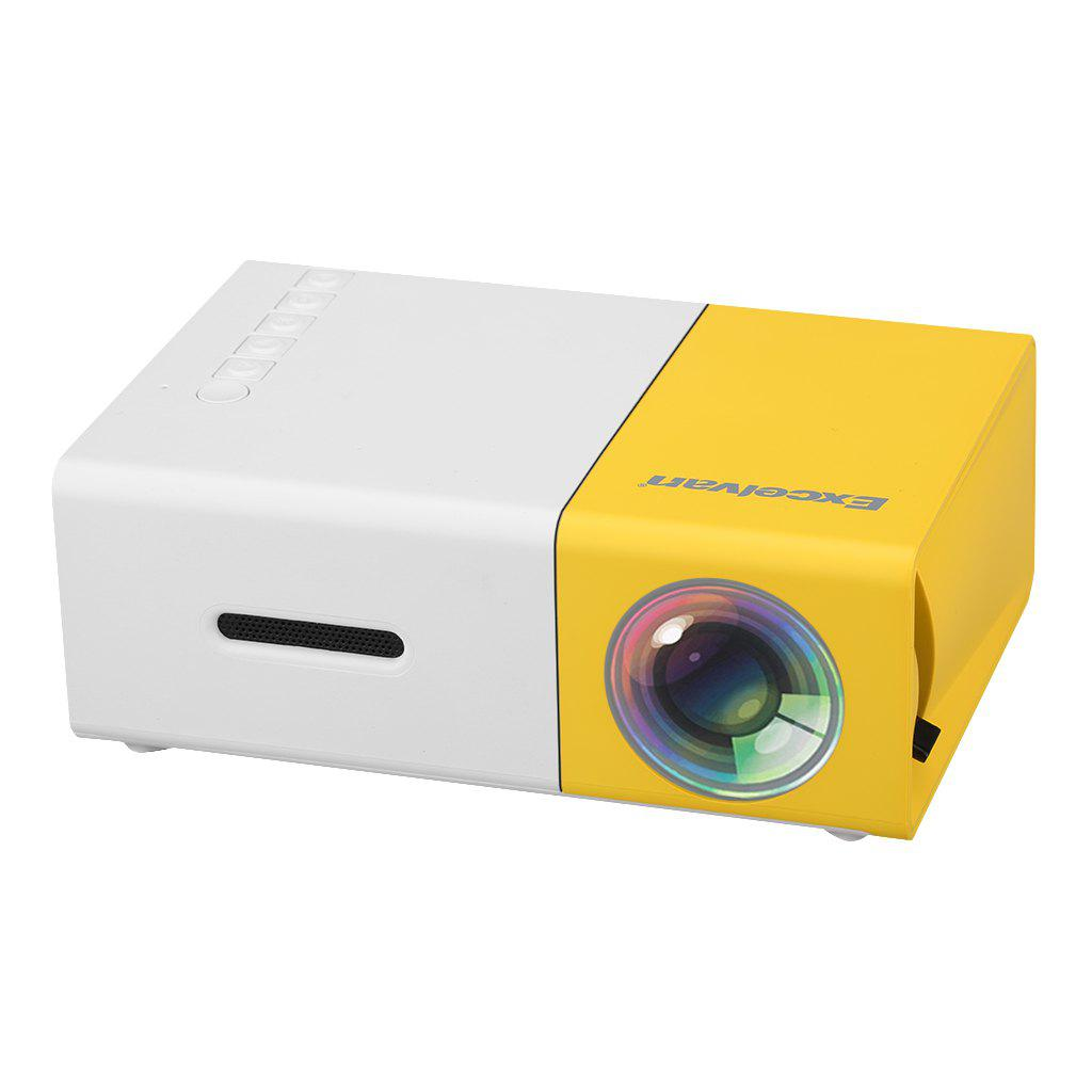 Affordable Excelvan YG300 Home Mini Projector 320 x 240P Support 1080P AV USB SD Card HDMI Interface