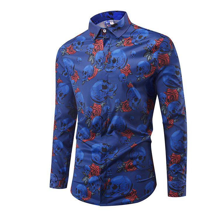 Latest Particular Skull Printing Long Sleeve Shirts