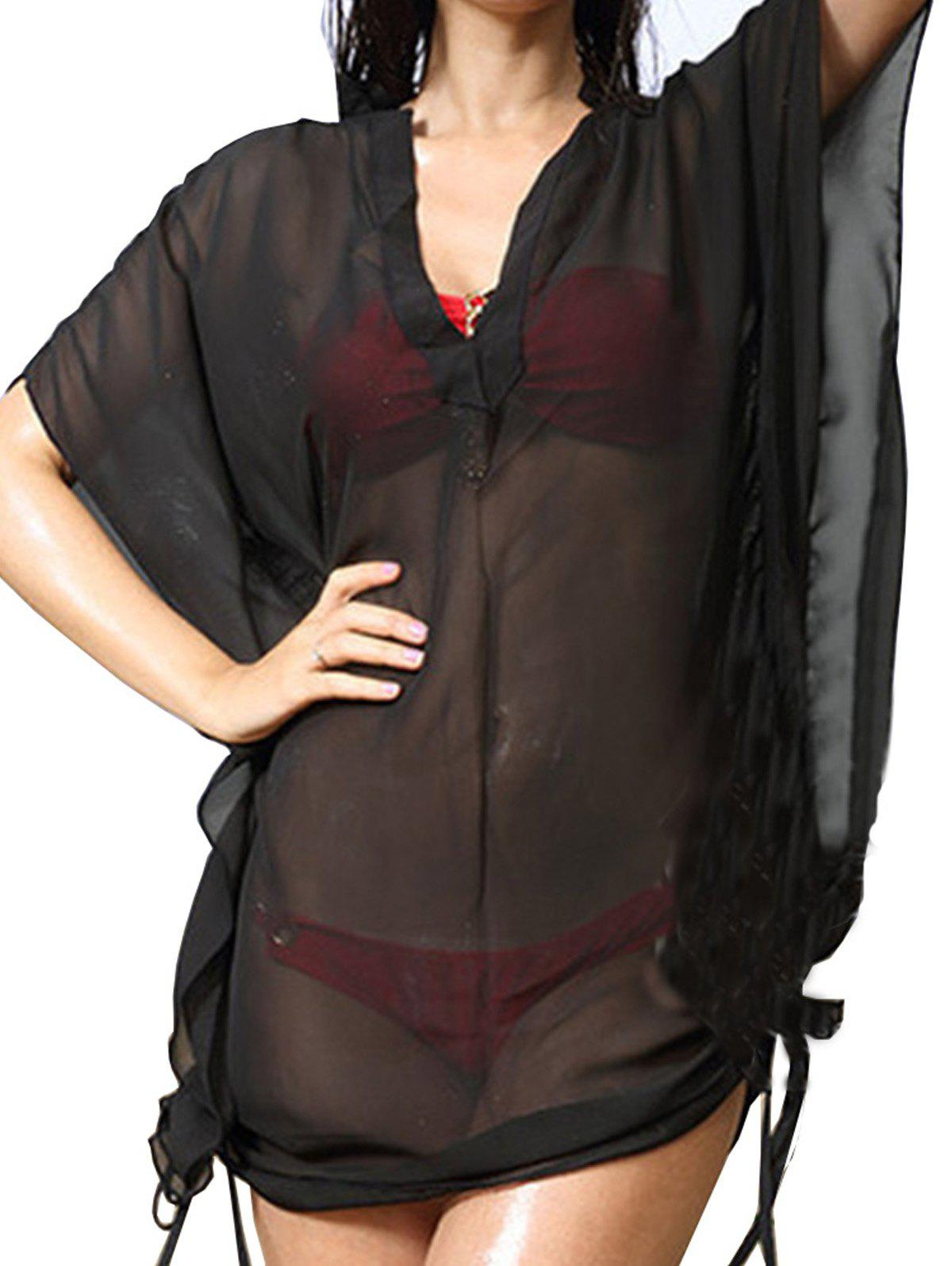 Outfit V-neck Smock See-through Babydoll Lingeries