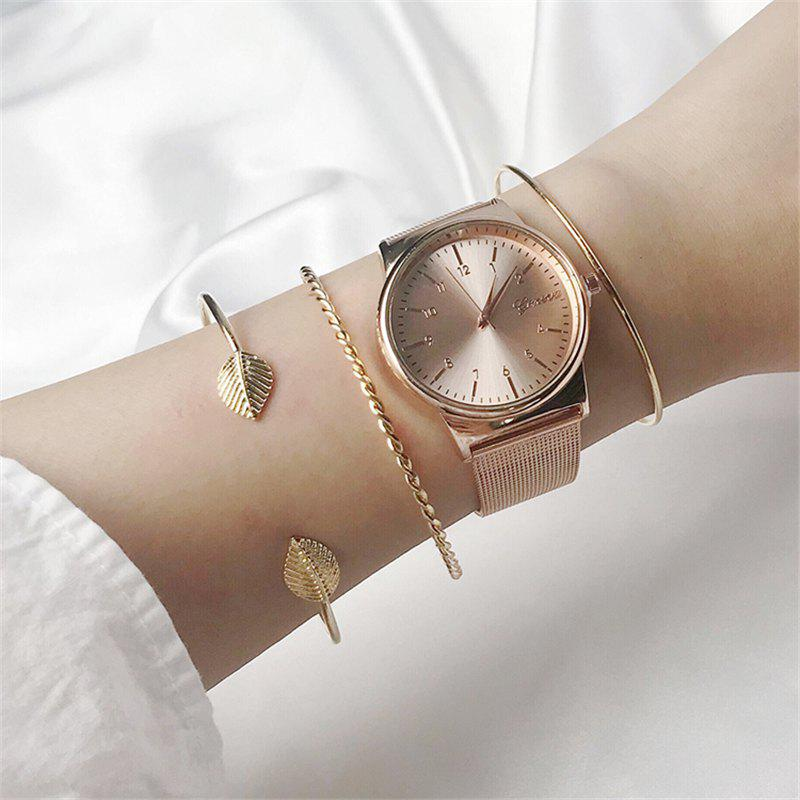 New 3pcs Women Braclet Set Copper Crystal Braclet Women Screw Hand Fashion Star Moon Love Wedding Cuff Bangle Bracelet