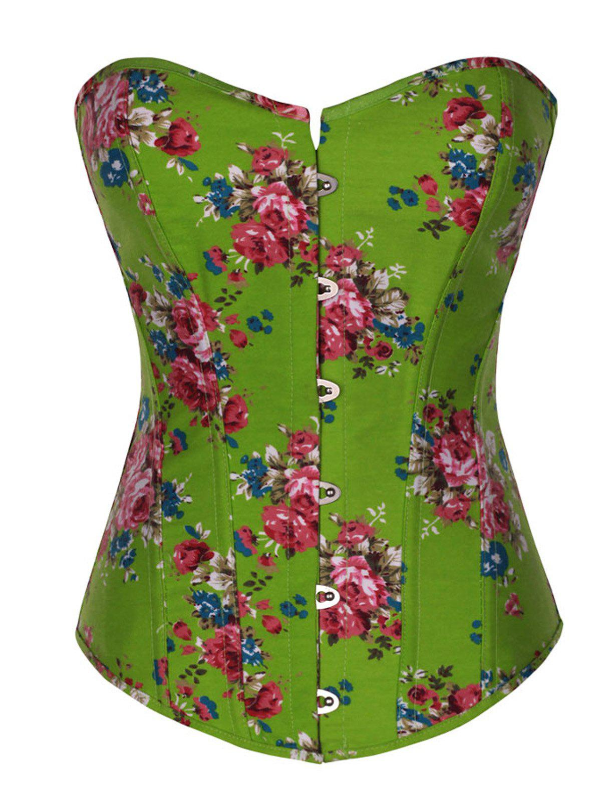 Shop Vintage Floral Denim Corset Bustier Top