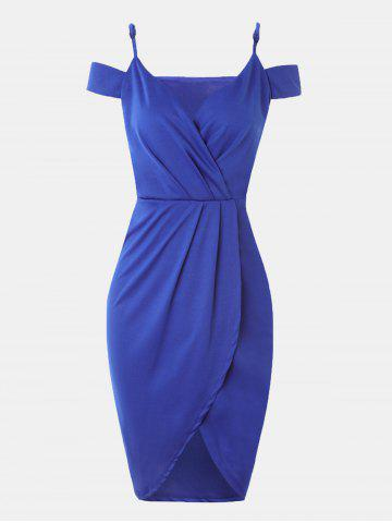 Women V-neck Wrap dress With Irregular Dress