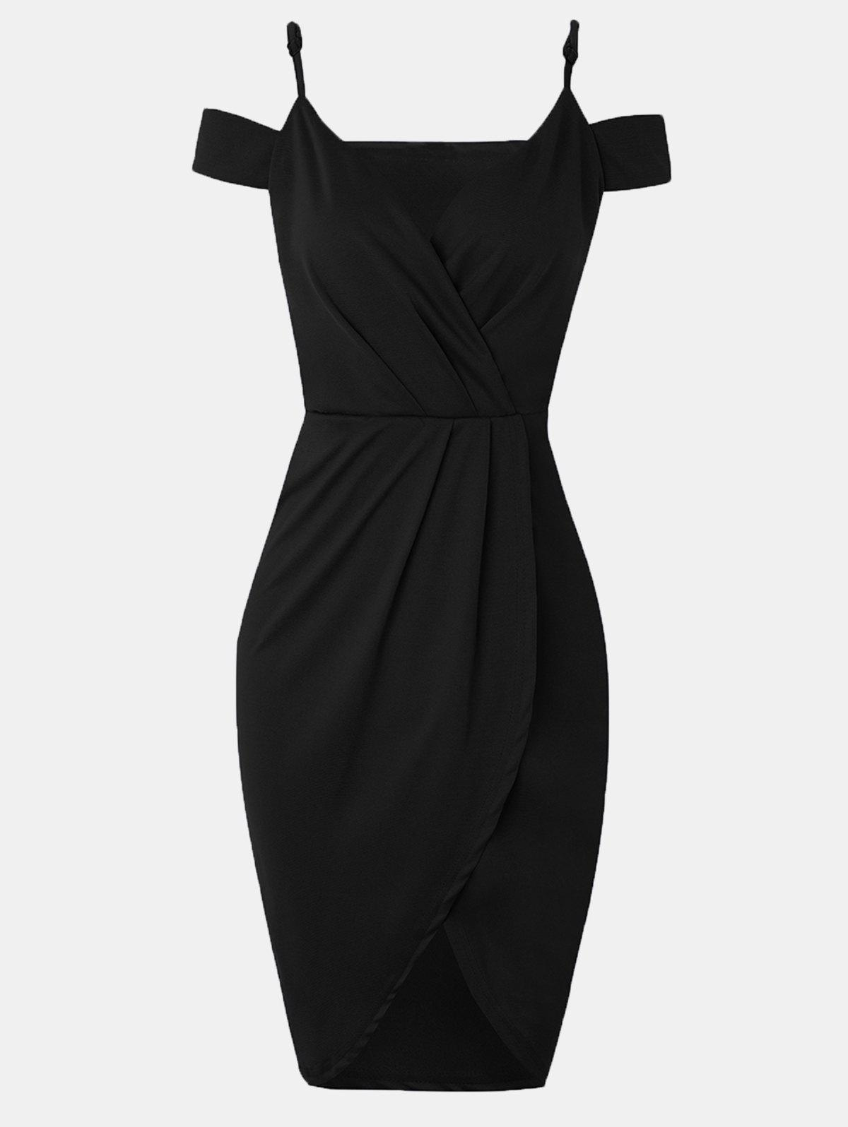 Unique Women V-neck Wrap dress With Irregular Dress