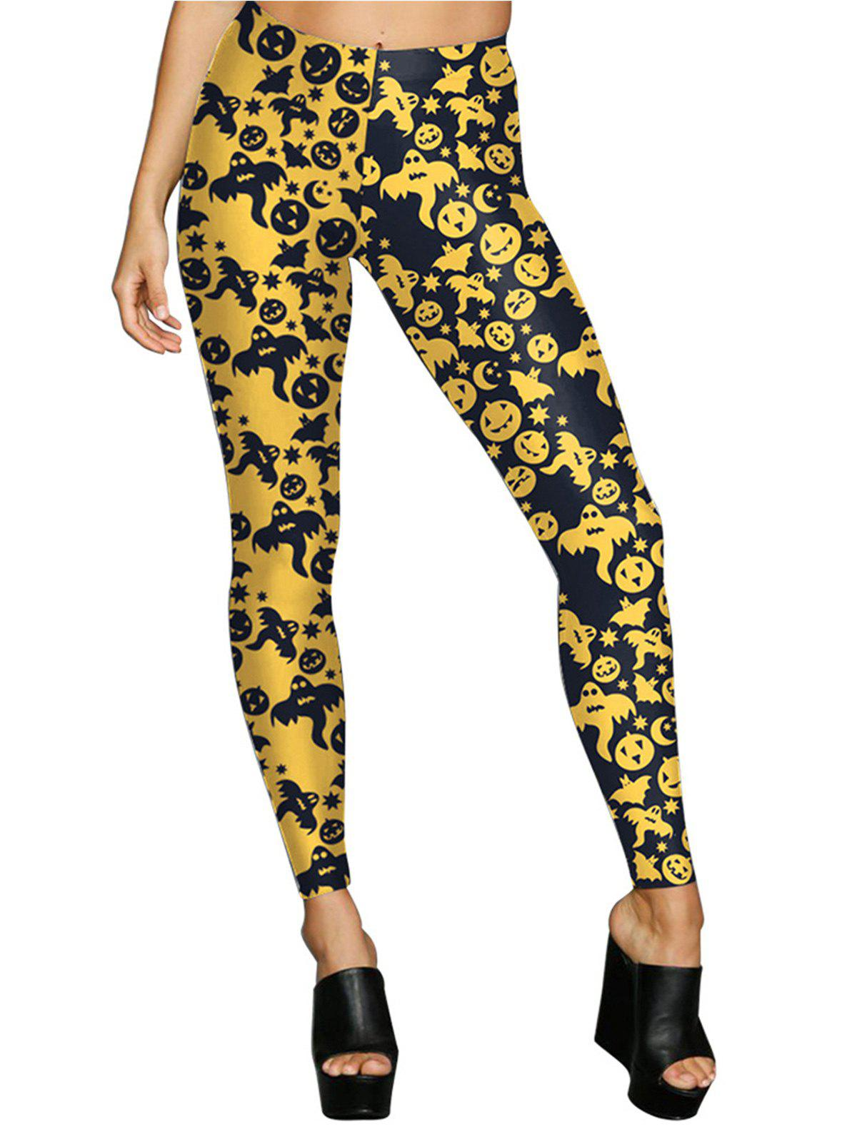 Yellow Xl Womens Digital Print Stretchy Ankle Leggings Tights ... 56eeb9b0d
