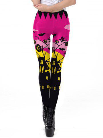 Womens Classic Retro Printed Casual Pattern Ankle Length Elastic Tights Leggings