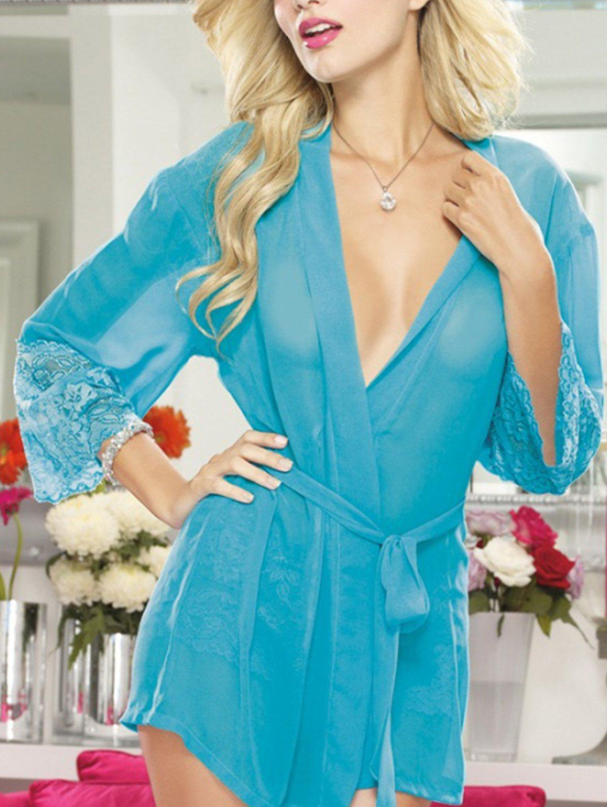 Affordable Lace Long Sleeve Babydoll Lingeries