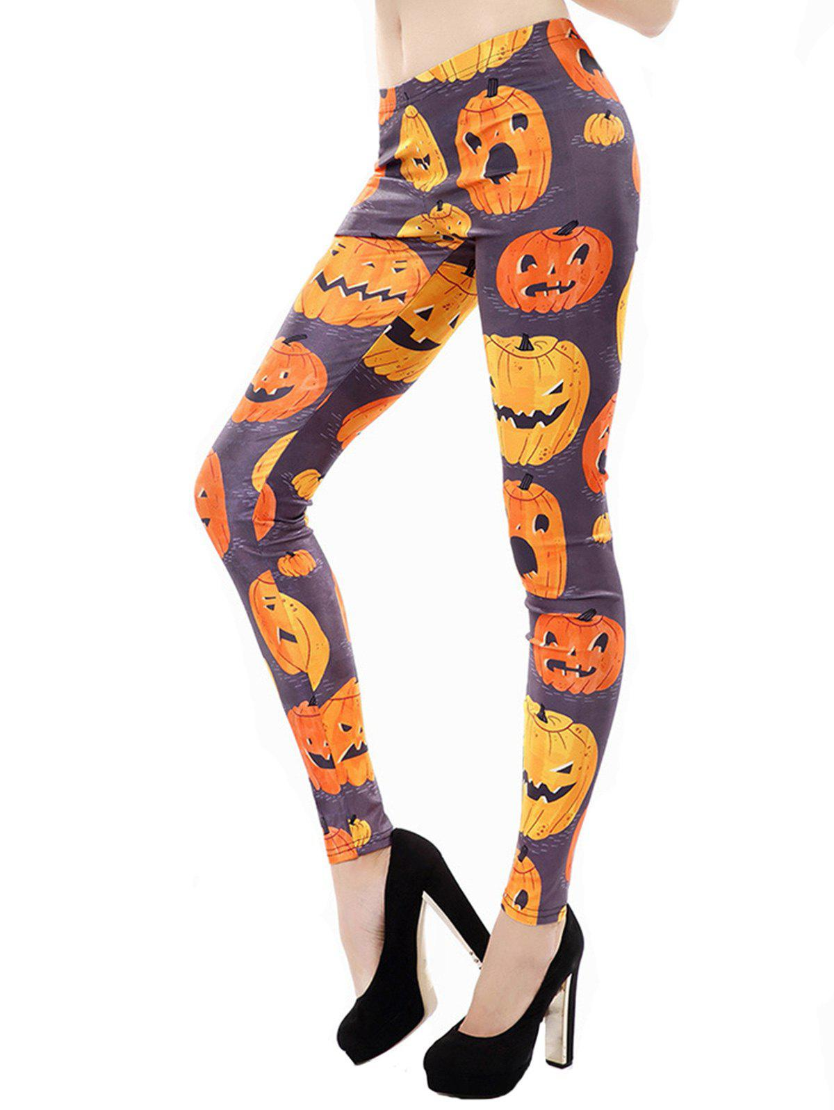Trendy Women Classic Retro Printed Casual Pattern Ankle Length Elastic Tights Leggings