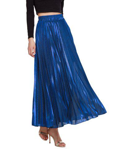 Womens Lurex Sunray Pleats A Line Skirt