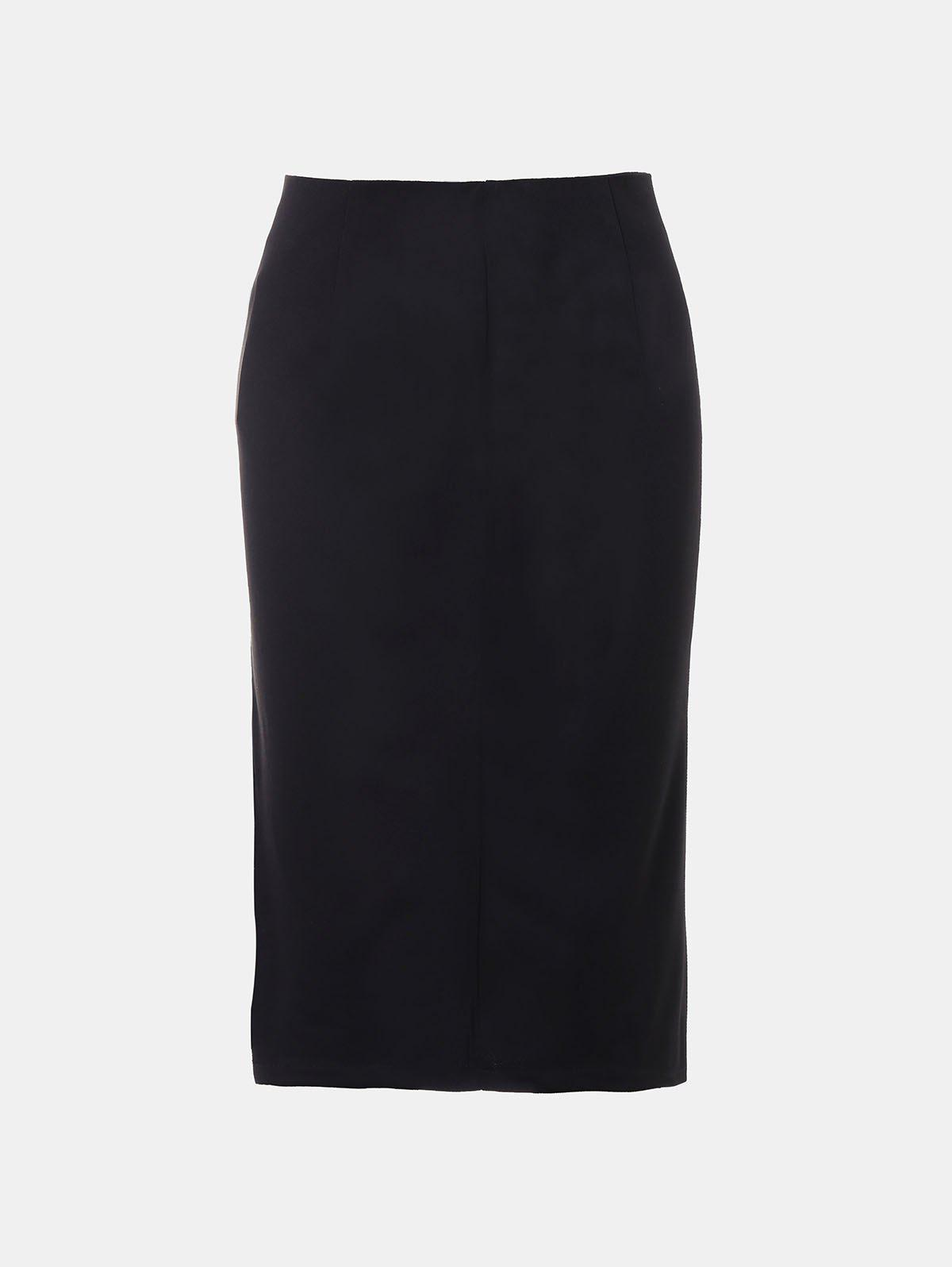 Store Front Fork Slim and Knee-Leng Pnecil Skirt