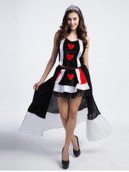Princess Costume In  Poker Pattern -