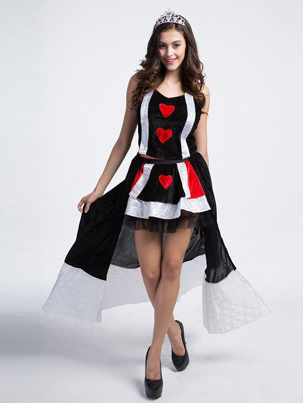 Unique Princess Costume In  Poker Pattern